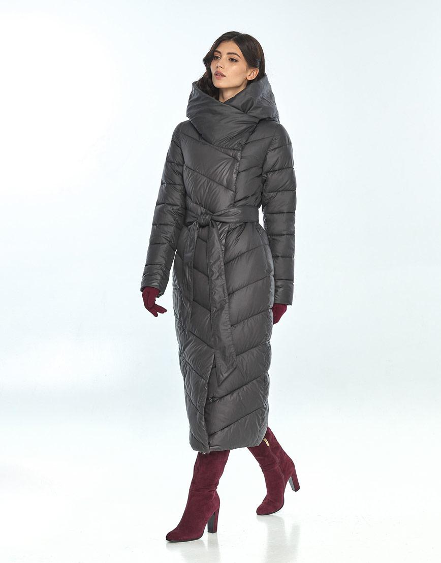 Практичная куртка серая женская Vivacana на зиму 9405/21 фото 2