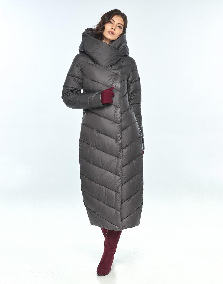 Практичная куртка серая женская Vivacana на зиму 9405/21 фото 1