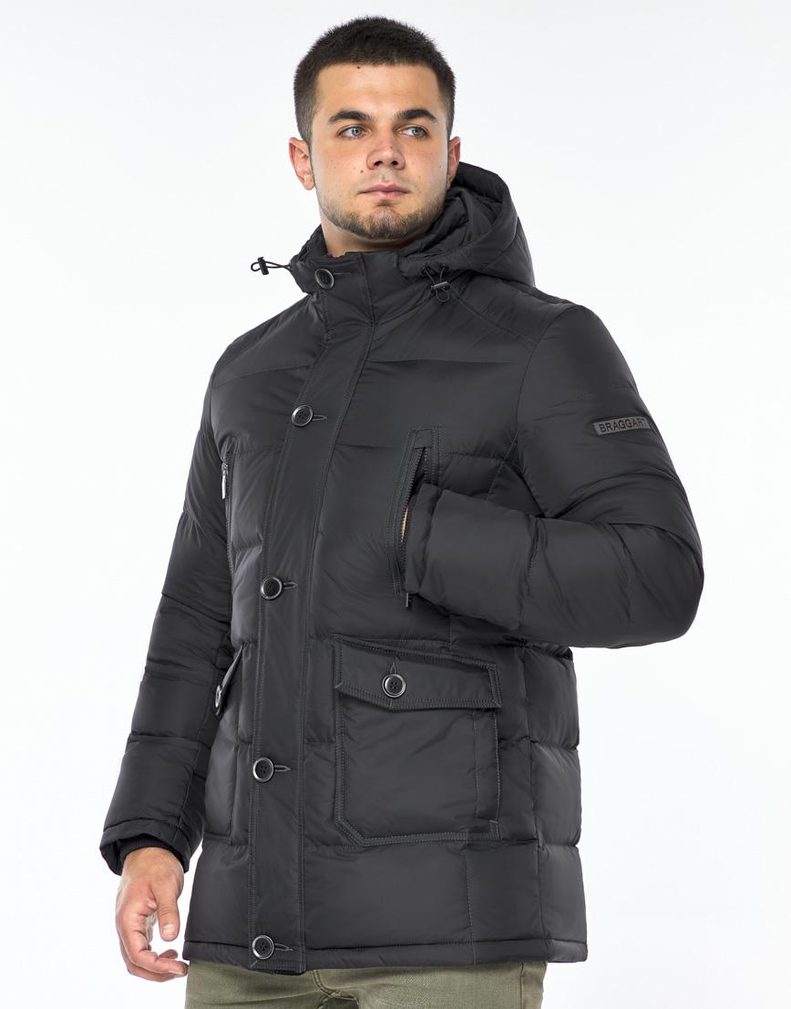Куртка модная графитового цвета модель 24750 фото 2