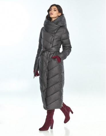 Практичная куртка большого размера Vivacana серая женская на зиму 9405/21 фото 1