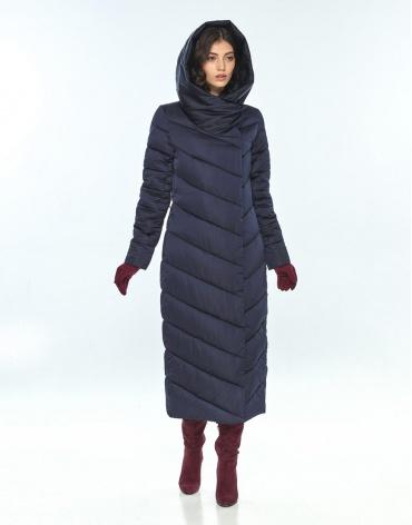 Зимняя синяя куртка женская Vivacana трендовая 9405/21 фото 1