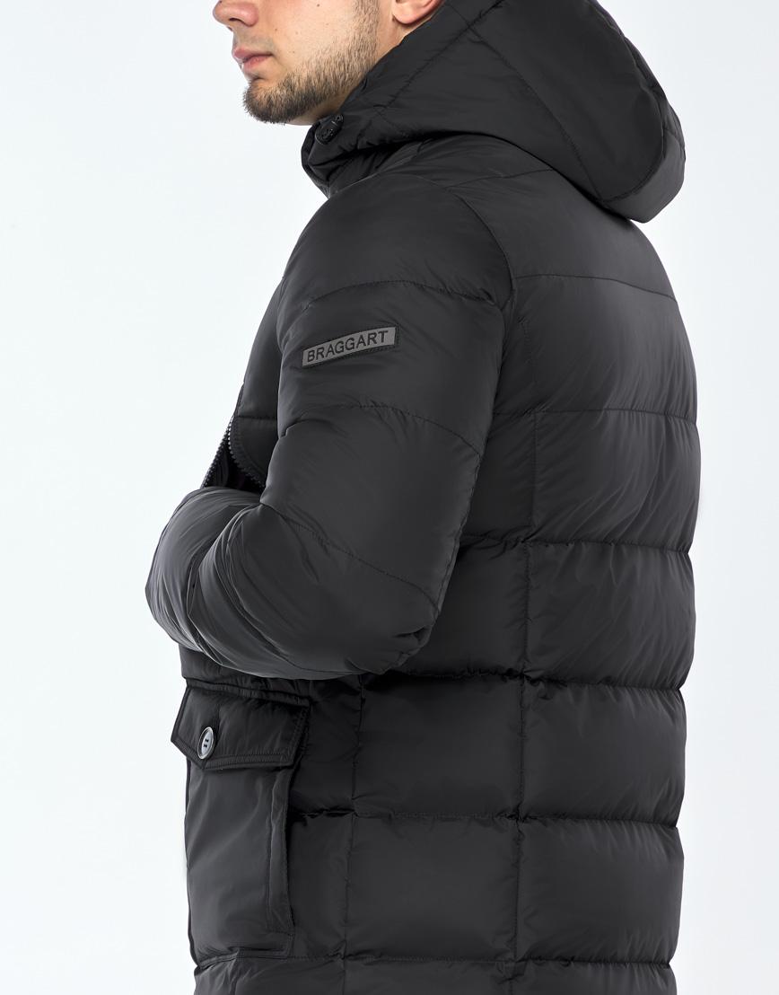 Практичная черная куртка на зиму модель 24750 фото 6
