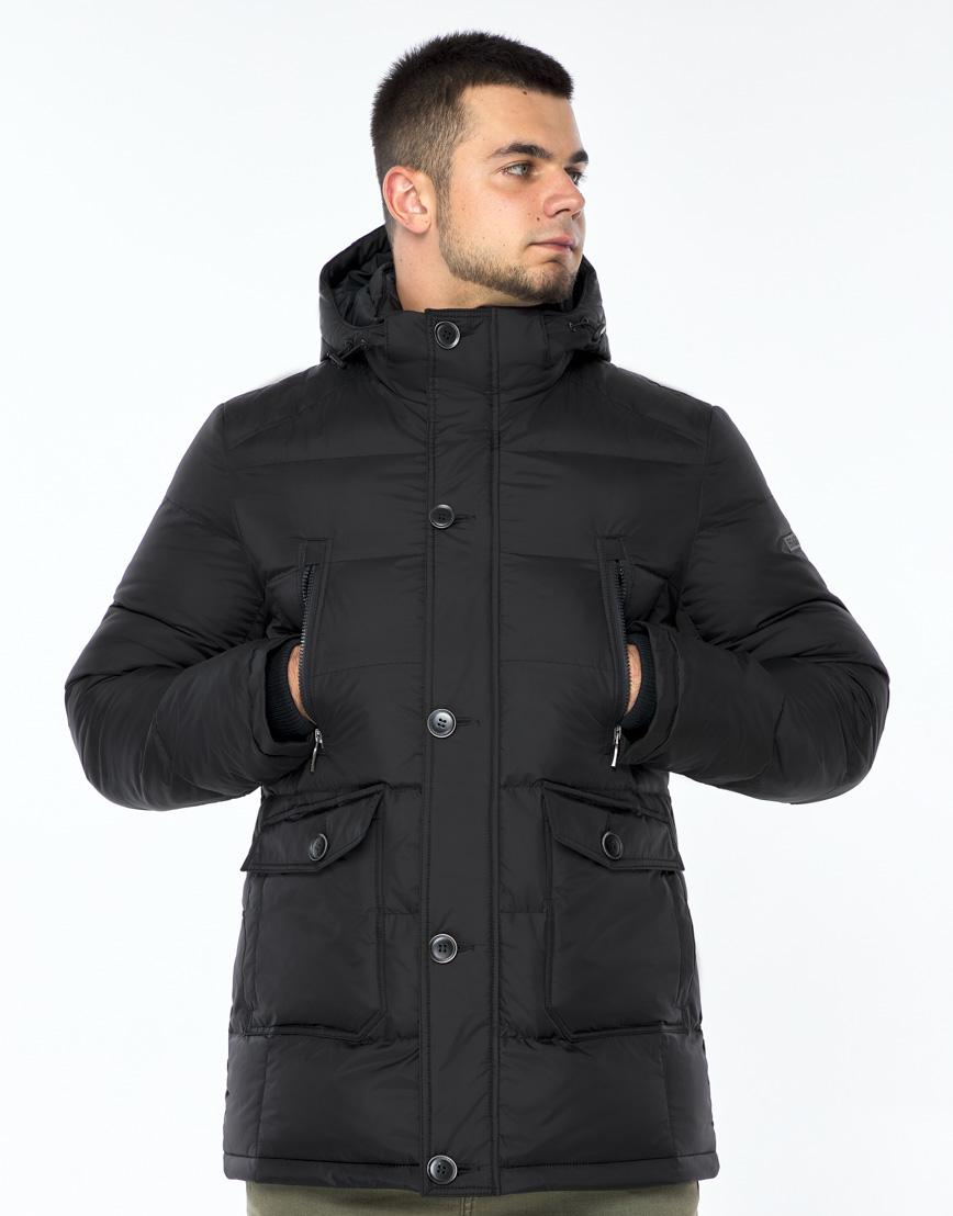 Практичная черная куртка на зиму модель 24750 фото 2