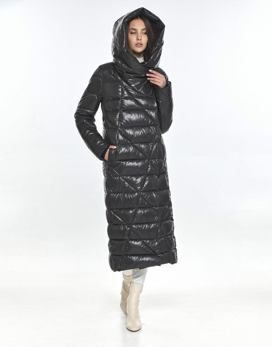 Женская куртка зимняя Vivacana серая 9470/21 фото 1