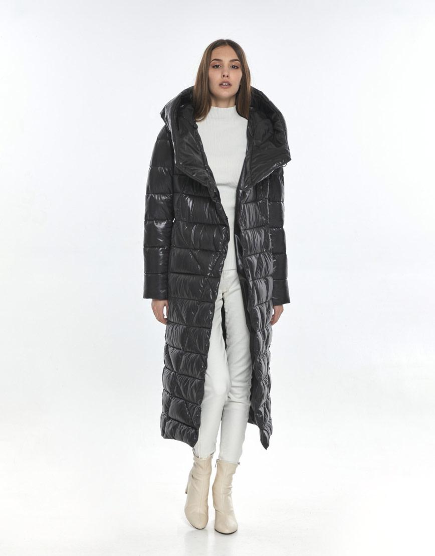 Женская куртка зимняя Vivacana серая 9470/21 фото 2