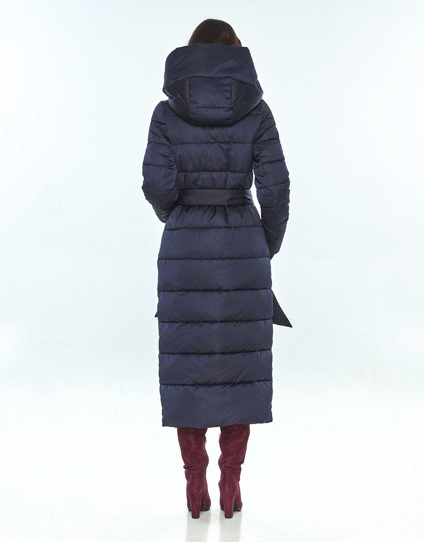 Комфортная зимняя синяя куртка большого размера женская Vivacana 9405/21 фото 3