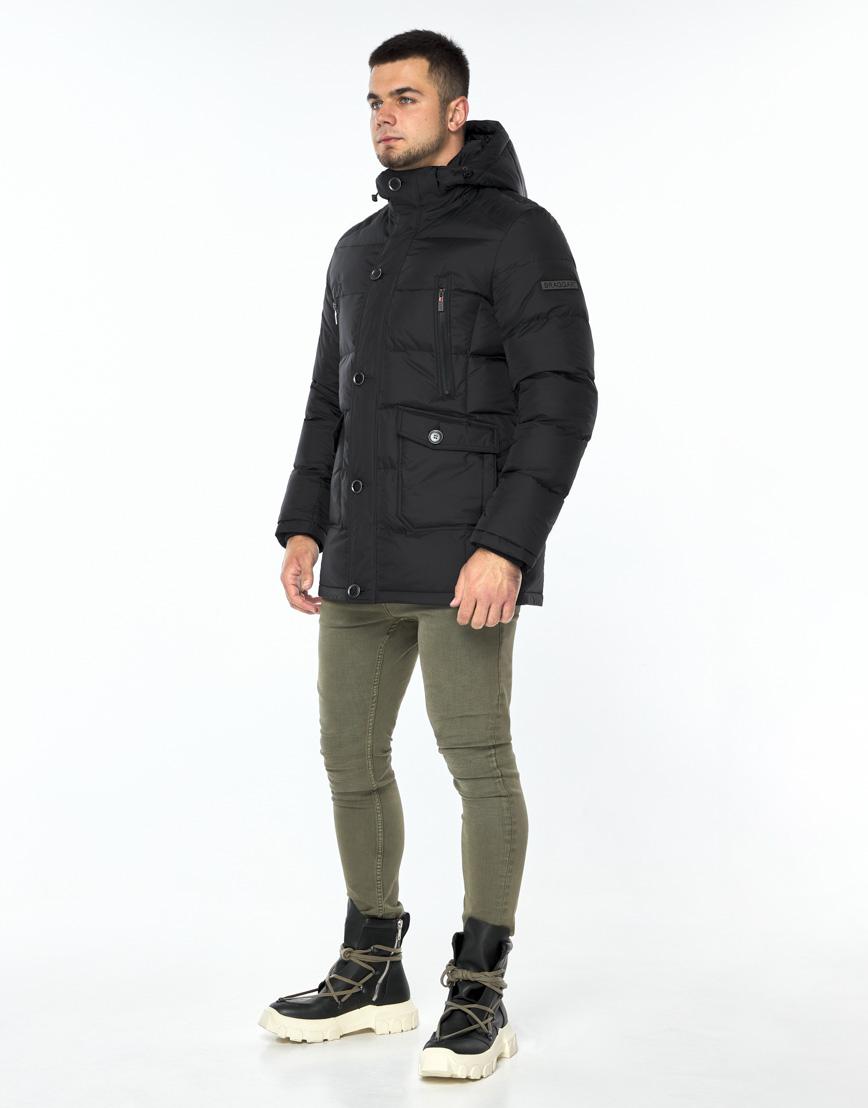 Практичная черная куртка на зиму модель 24750 фото 1