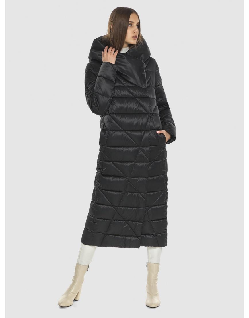 Стёганая куртка женская Vivacana чёрная 9470/21 фото 6