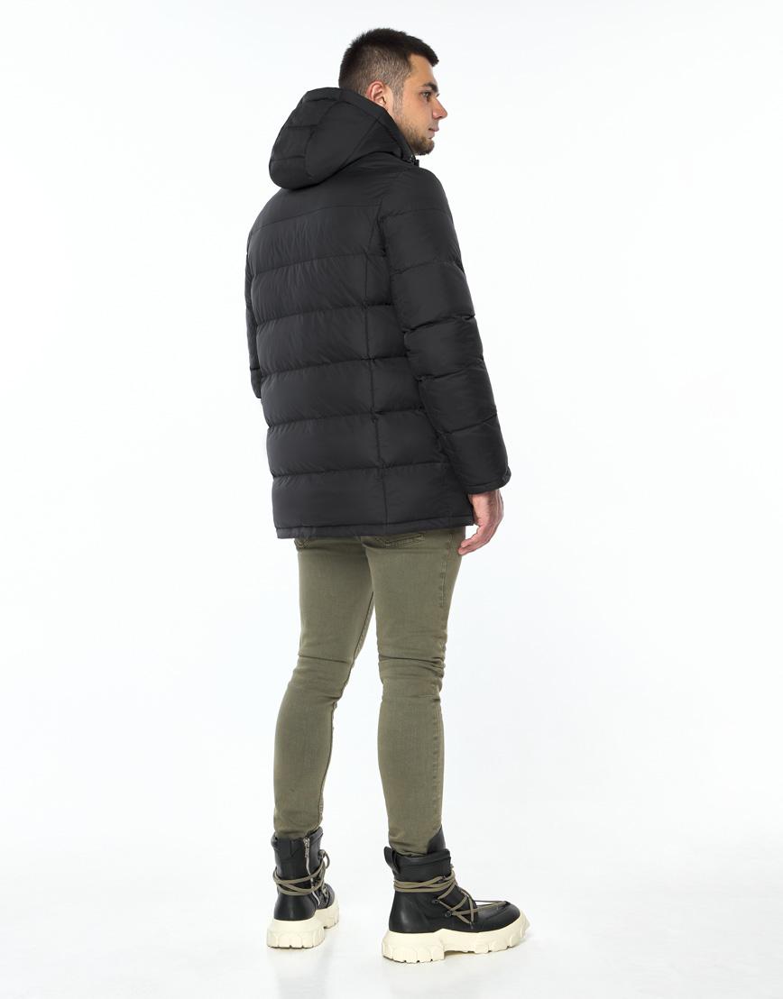 Практичная черная куртка на зиму модель 24750 фото 4