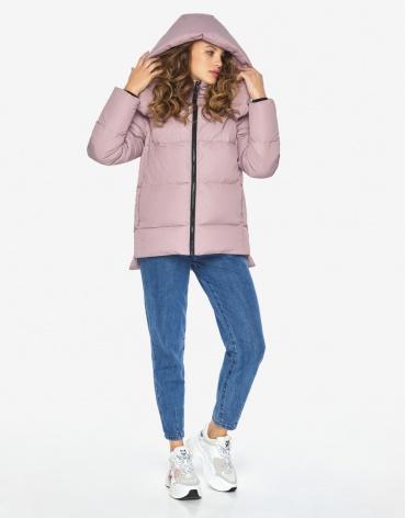 Пуховик куртка Youth женская зимняя пудровая модель 23140 оптом фото 1