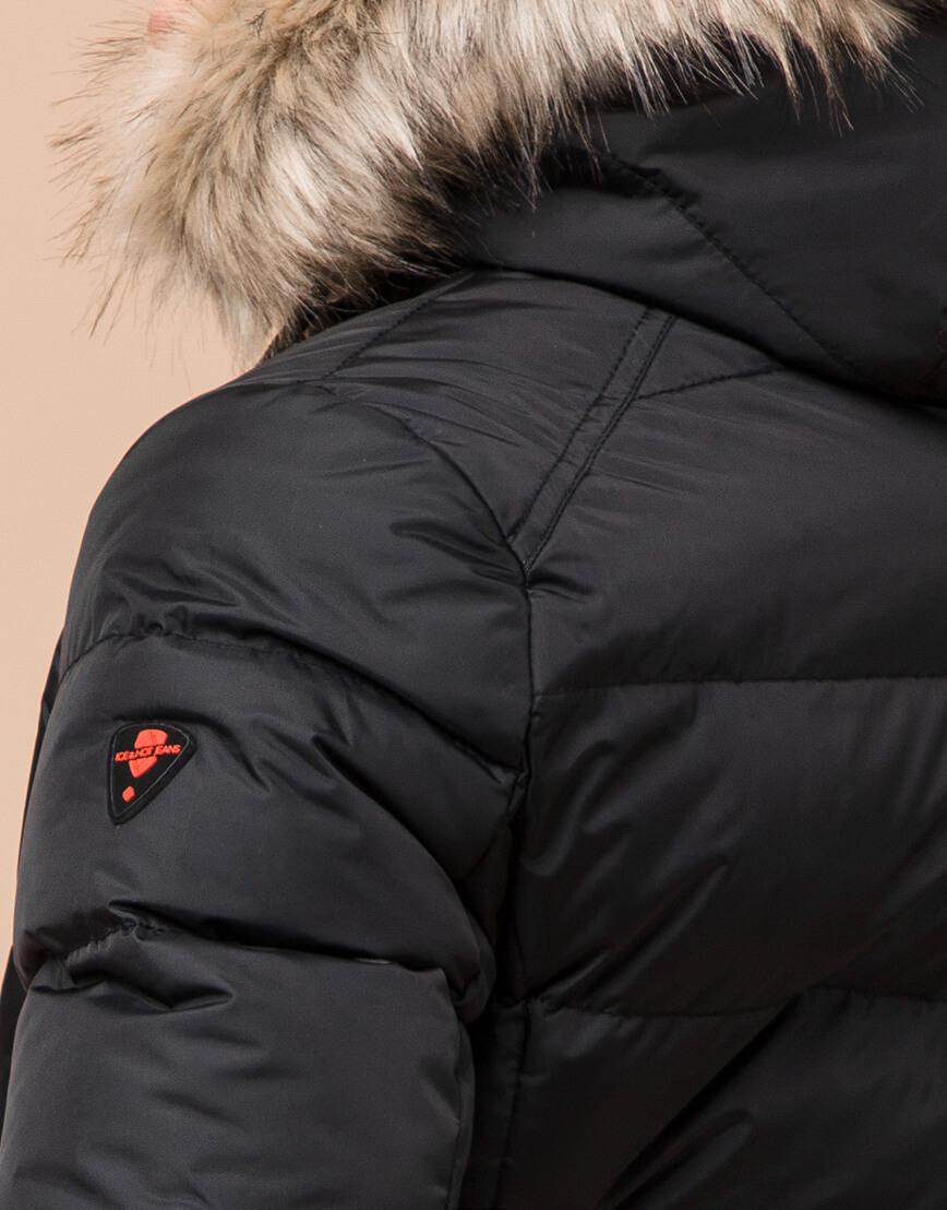 Детская черная куртка качественная модель 68255