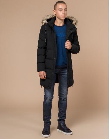 Куртка молодежная модного фасона черная модель 25170 фото 1