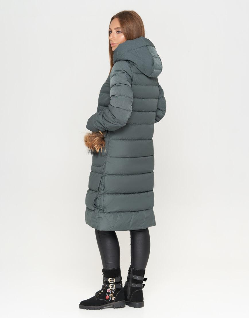 Практичная женская куртка цвет изумрудный модель 717 фото 3