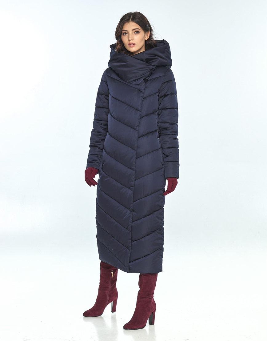 Комфортная зимняя синяя куртка большого размера женская Vivacana 9405/21 фото 1