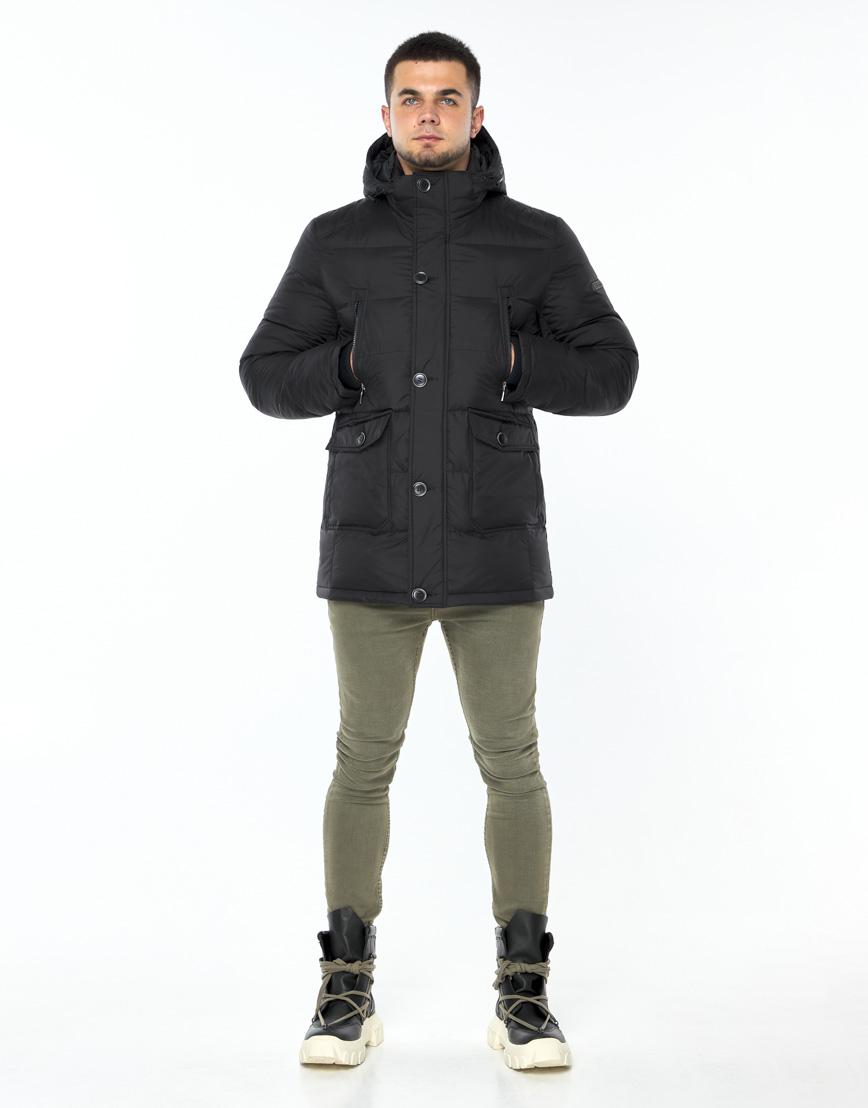 Практичная черная куртка на зиму модель 24750 фото 3