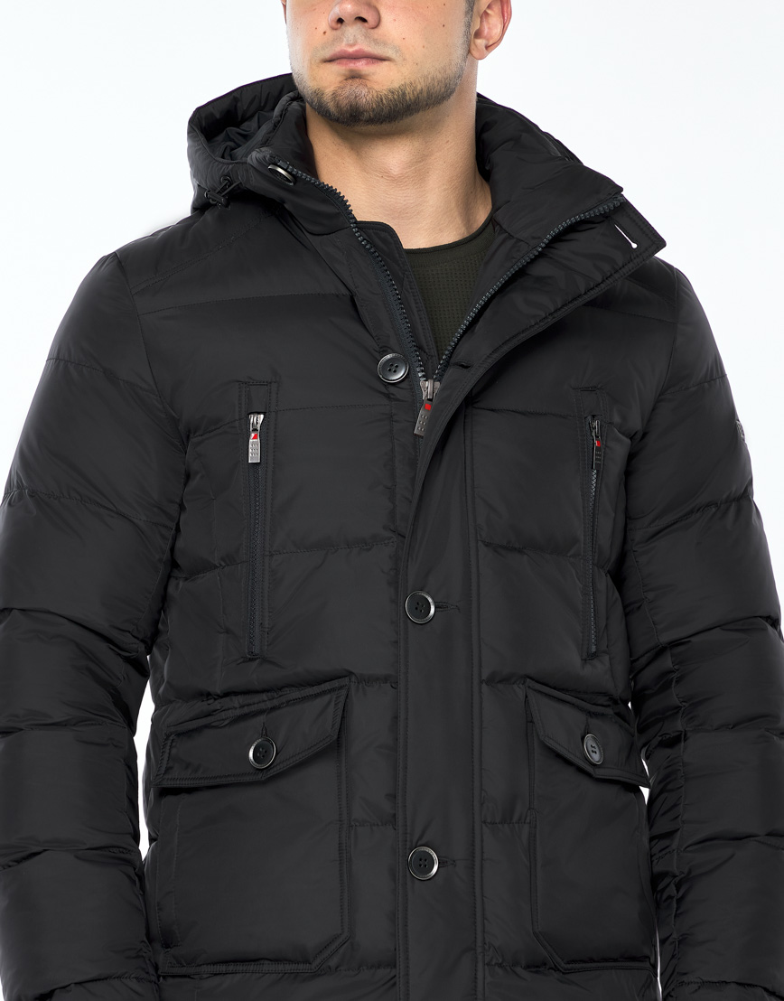 Практичная черная куртка на зиму модель 24750 фото 5