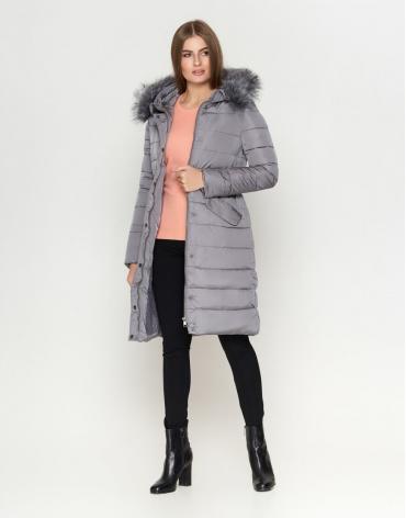 Оригинальная серая женская куртка модель 8606 фото 1