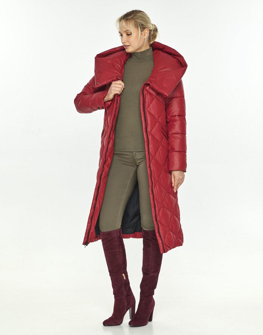 Красная куртка удобная зимняя Kiro Tokao женская 60074 фото 1
