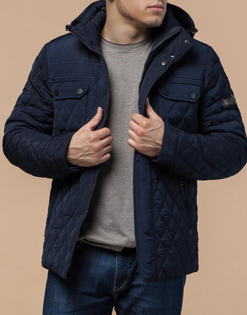 Мужская зимняя куртка синего цвета модель 1698 оптом фото 2
