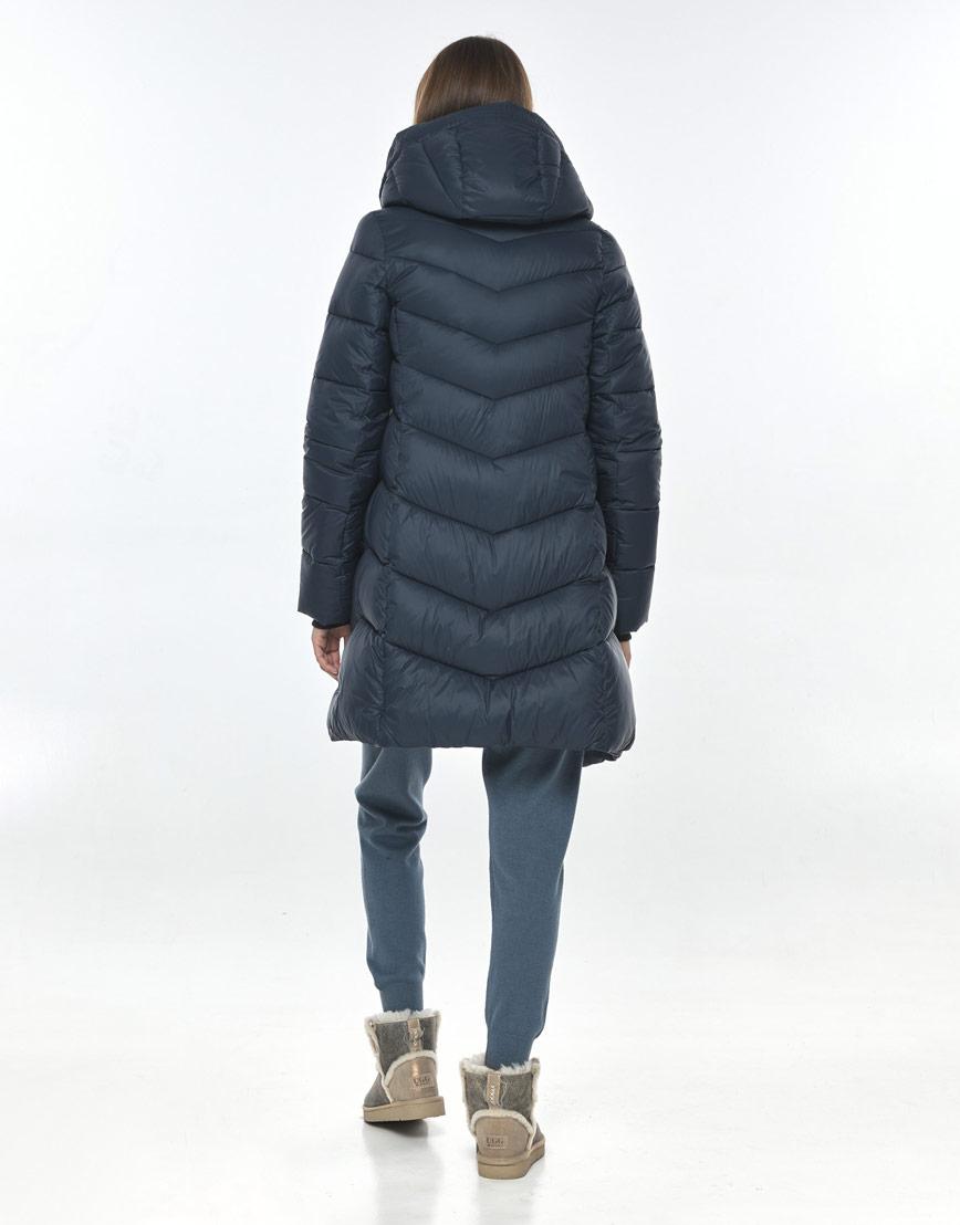 Комфортная куртка синяя для подростка девушки Vivacana 7821/21 фото 3