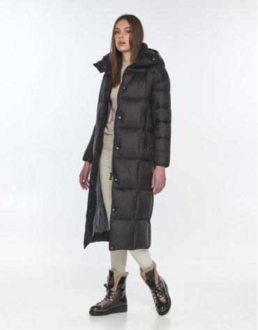 Трендовая чёрная куртка подростковая Wild Club на зиму 541-74 фото 1