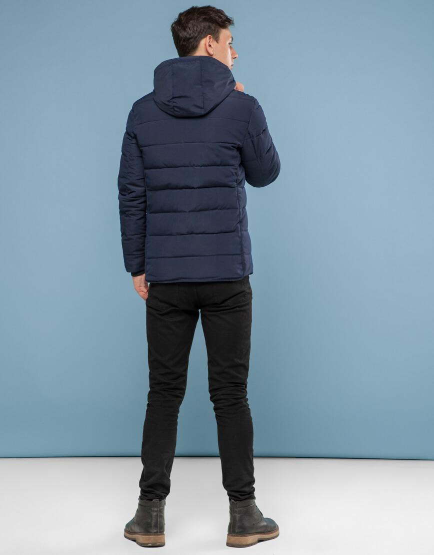 Темно-синяя куртка удобного фасона подростковая модель 6016 фото 4