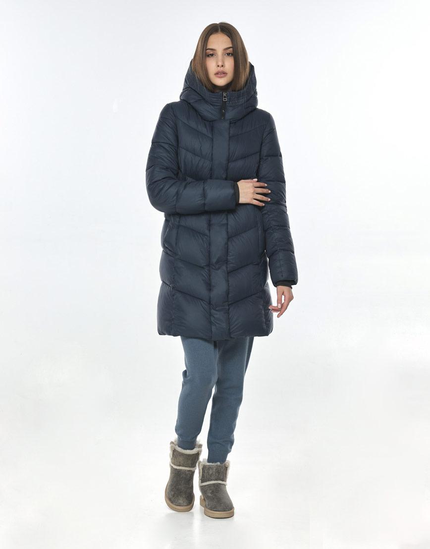 Комфортная куртка синяя для подростка девушки Vivacana 7821/21 фото 1