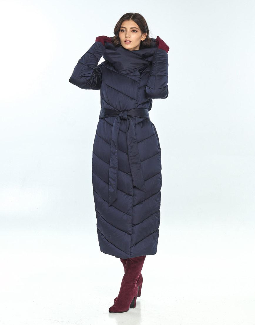 Комфортная зимняя синяя куртка большого размера женская Vivacana 9405/21 фото 2