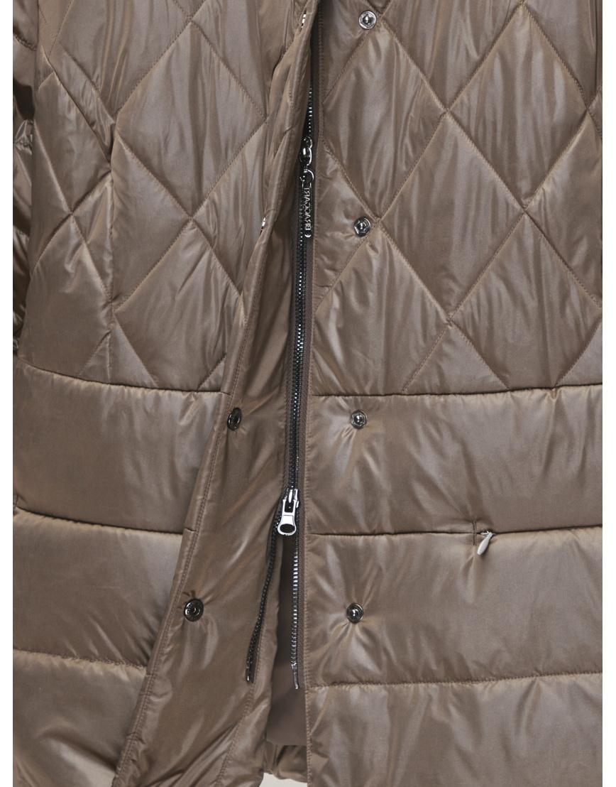 50 (L) – последний размер – коричневая куртка с поясом женская Braggart осенняя 200034 фото 4