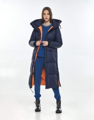 Зимняя оригинальная синяя куртка Vivacana подростковая на девушку 7654/21 фото 1