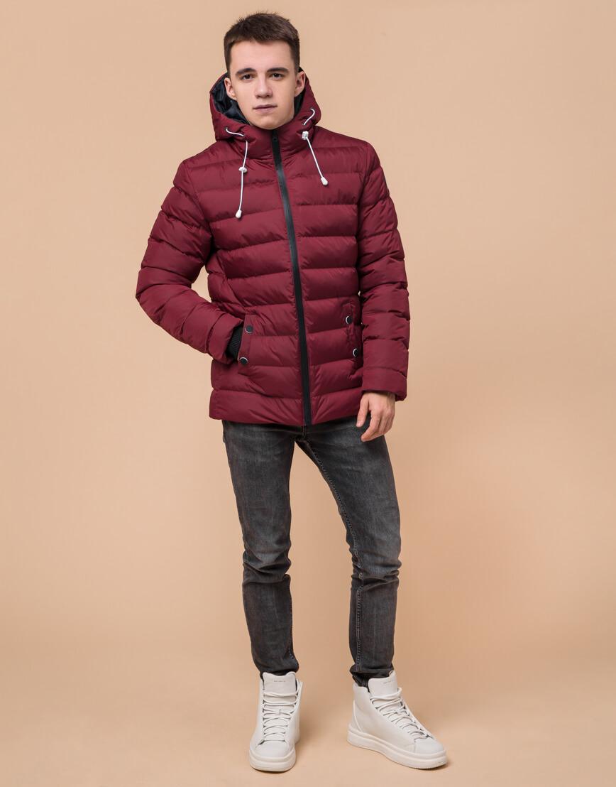 Куртка подростковая комфортная бордовая модель 76025 фото 1