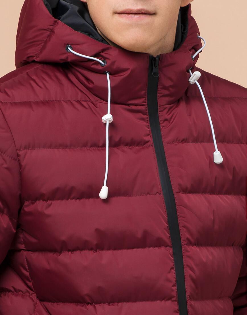 Куртка подростковая комфортная бордовая модель 76025 фото 5