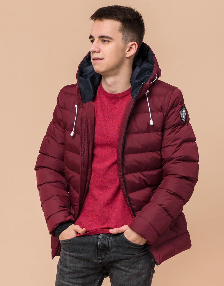 Куртка подростковая комфортная бордовая модель 76025 фото 3