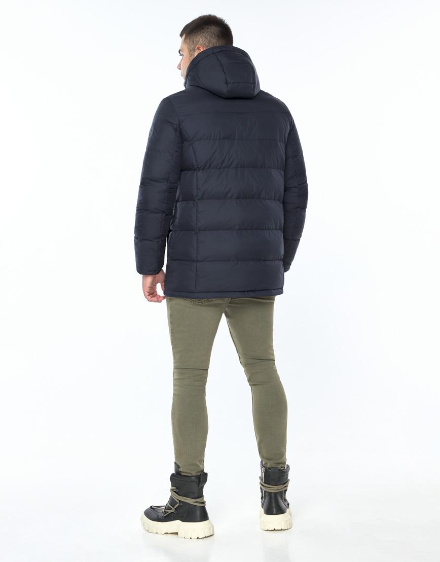 Темно-синяя куртка зимняя удобного фасона модель 24750 фото 4