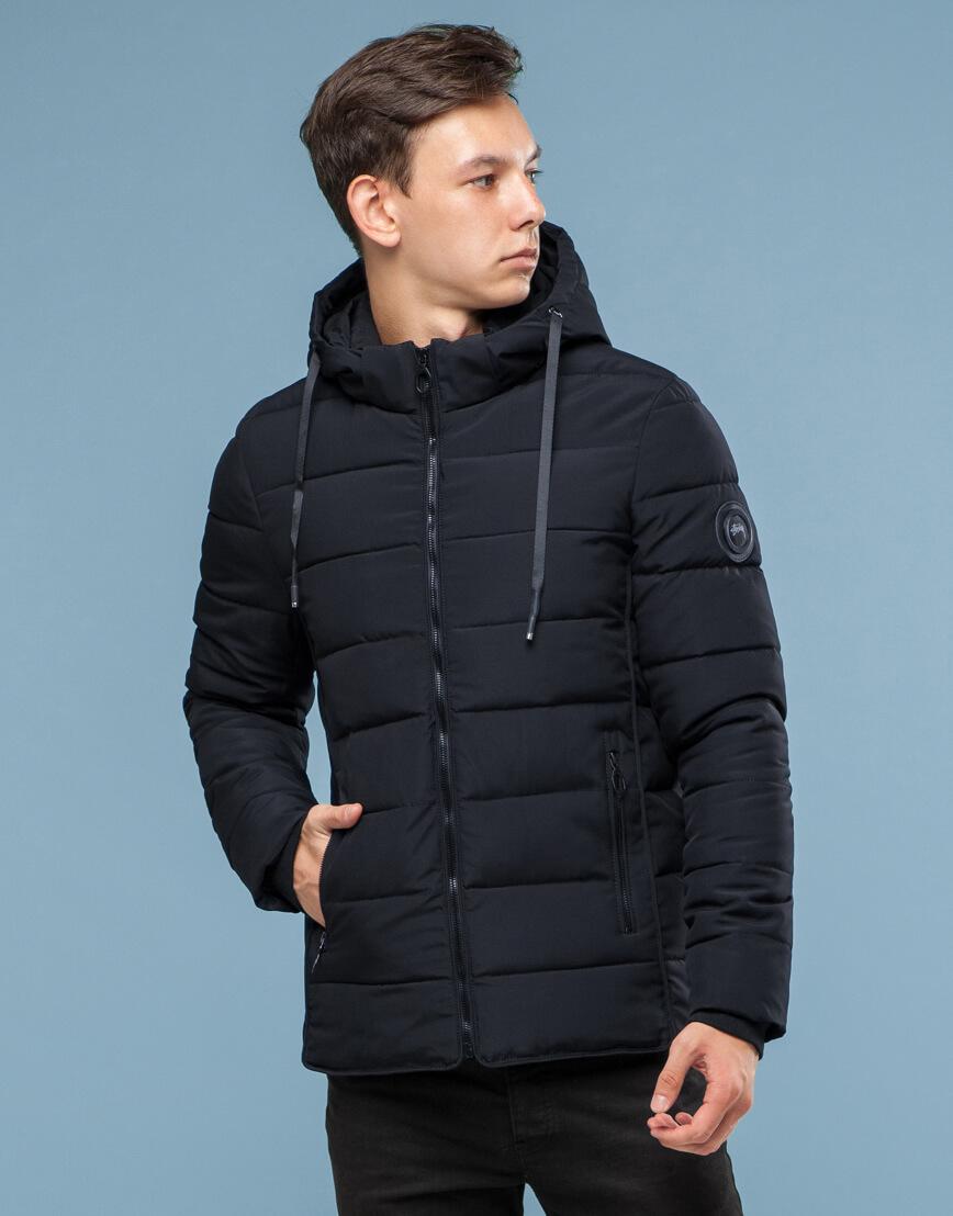 Оригинальная куртка черная подростковая модель 6016 фото 1