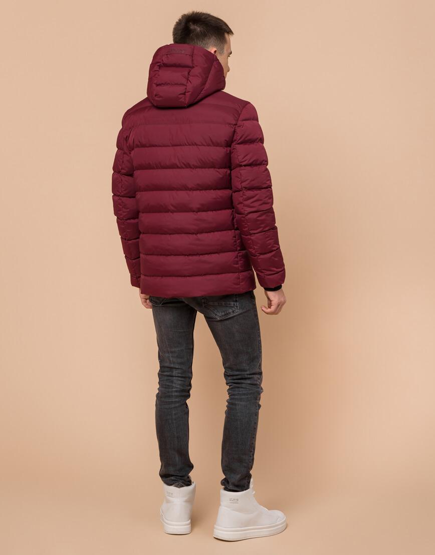 Куртка подростковая комфортная бордовая модель 76025 фото 4