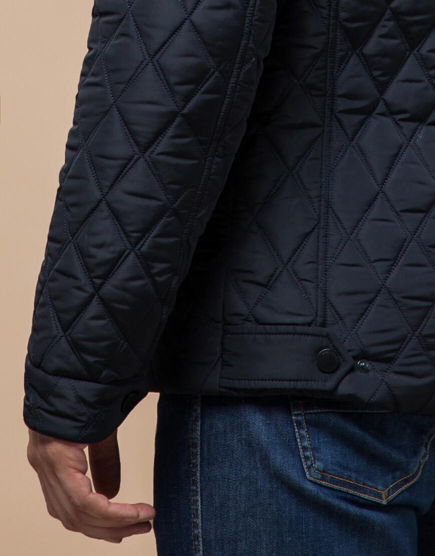 Куртка мужская зимняя темно-синего цвета модель 1698 оптом фото 6