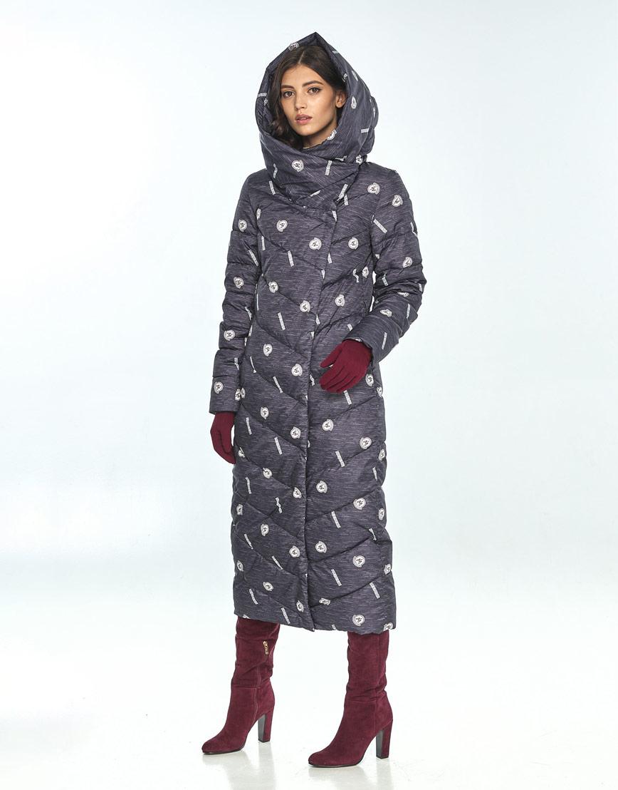 Стильная зимняя куртка с рисунком женская Vivacana 9405/21 фото 2