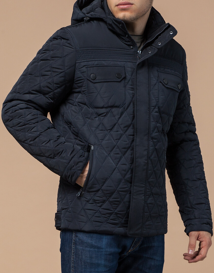 Куртка мужская зимняя темно-синего цвета модель 1698 оптом фото 1