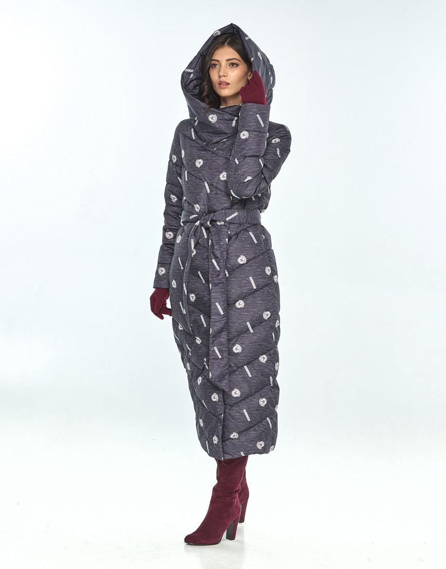 Стильная зимняя куртка с рисунком женская Vivacana 9405/21 фото 1