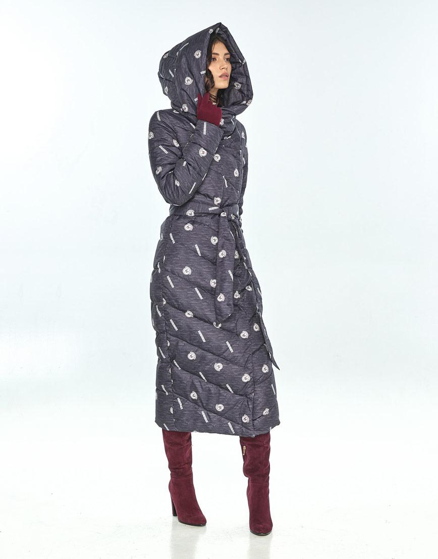 Куртка большого размера с рисунком женская Vivacana стильная 9405/21 фото 2