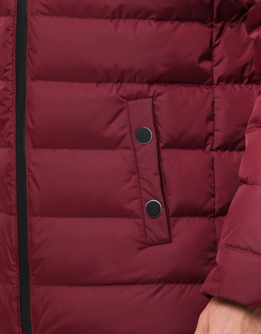 Куртка подростковая комфортная бордовая модель 76025 фото 6