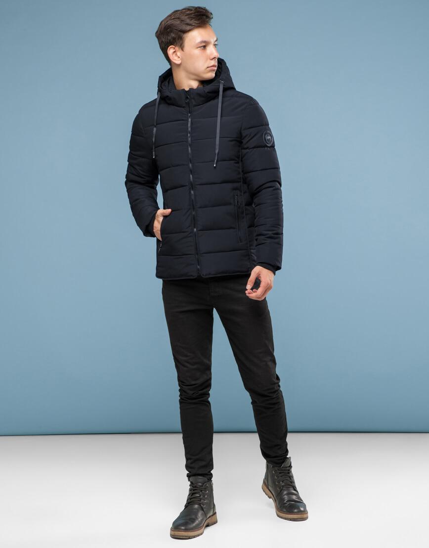 Оригинальная куртка черная подростковая модель 6016 фото 3