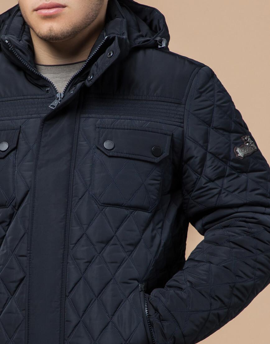 Куртка мужская зимняя темно-синего цвета модель 1698 оптом фото 4
