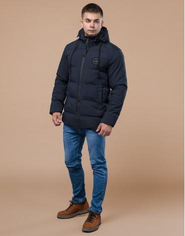 Синяя оригинальная подростковая куртка модель 25440 оптом