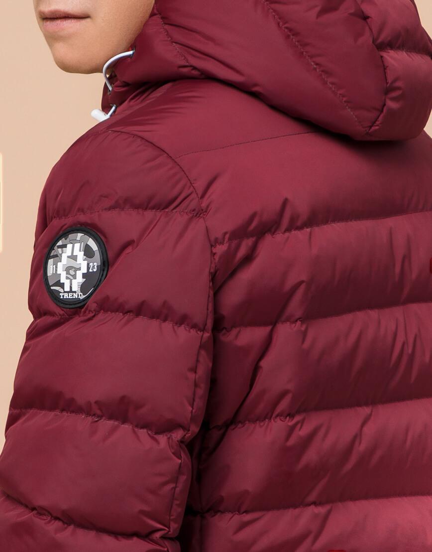 Куртка подростковая комфортная бордовая модель 76025 фото 7