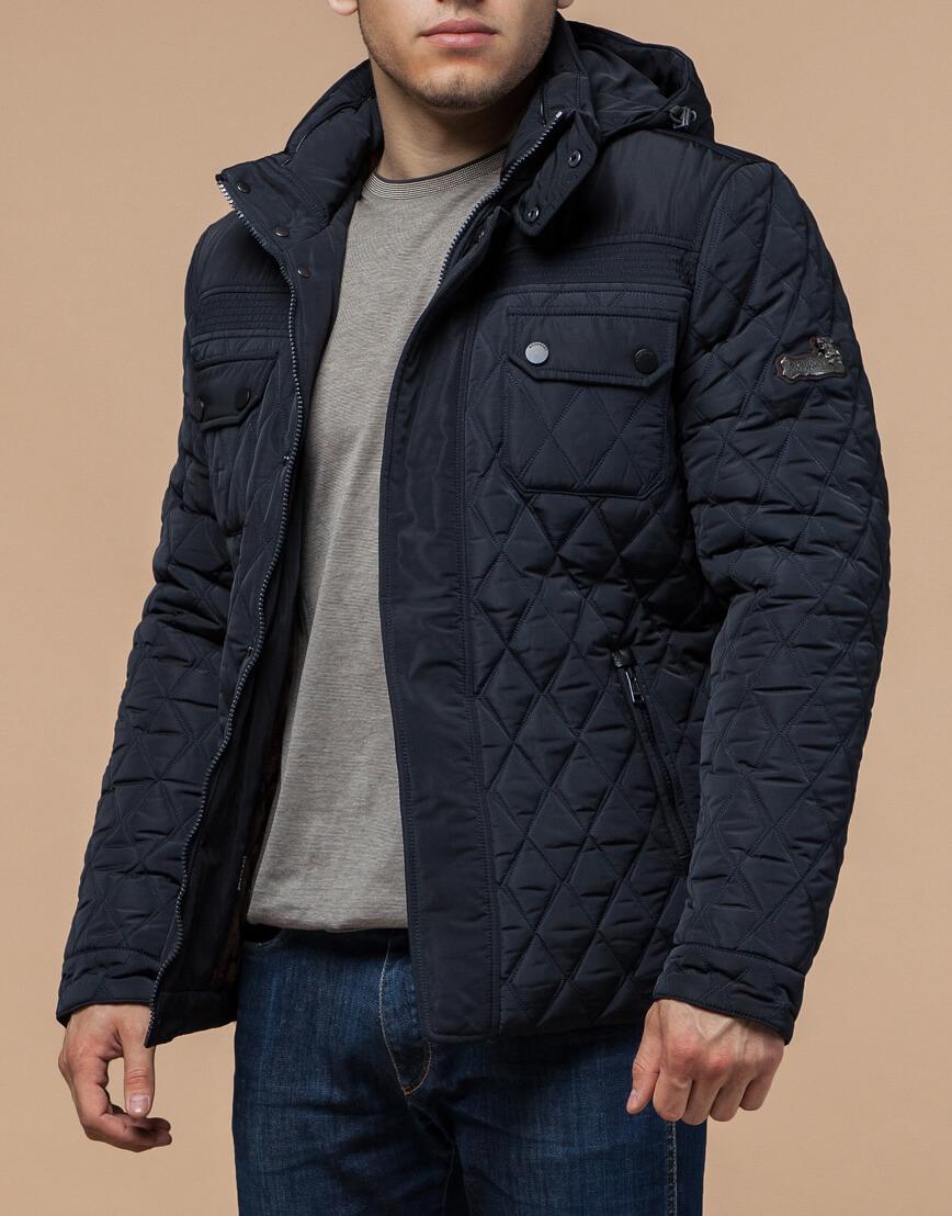 Куртка мужская зимняя темно-синего цвета модель 1698 оптом фото 2