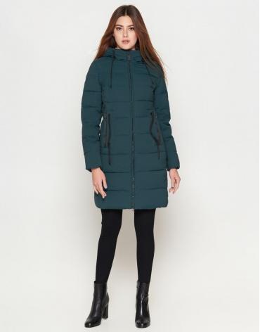 Зимняя женская молодежная куртка бирюзового цвета модель 25005