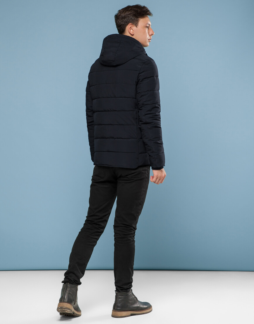 Оригинальная куртка черная подростковая модель 6016 фото 4