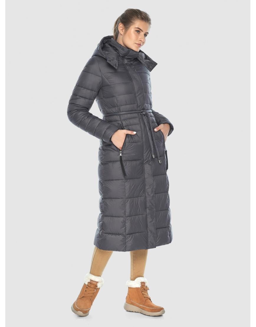 Стильная куртка Ajento серая женская 21375 фото 2